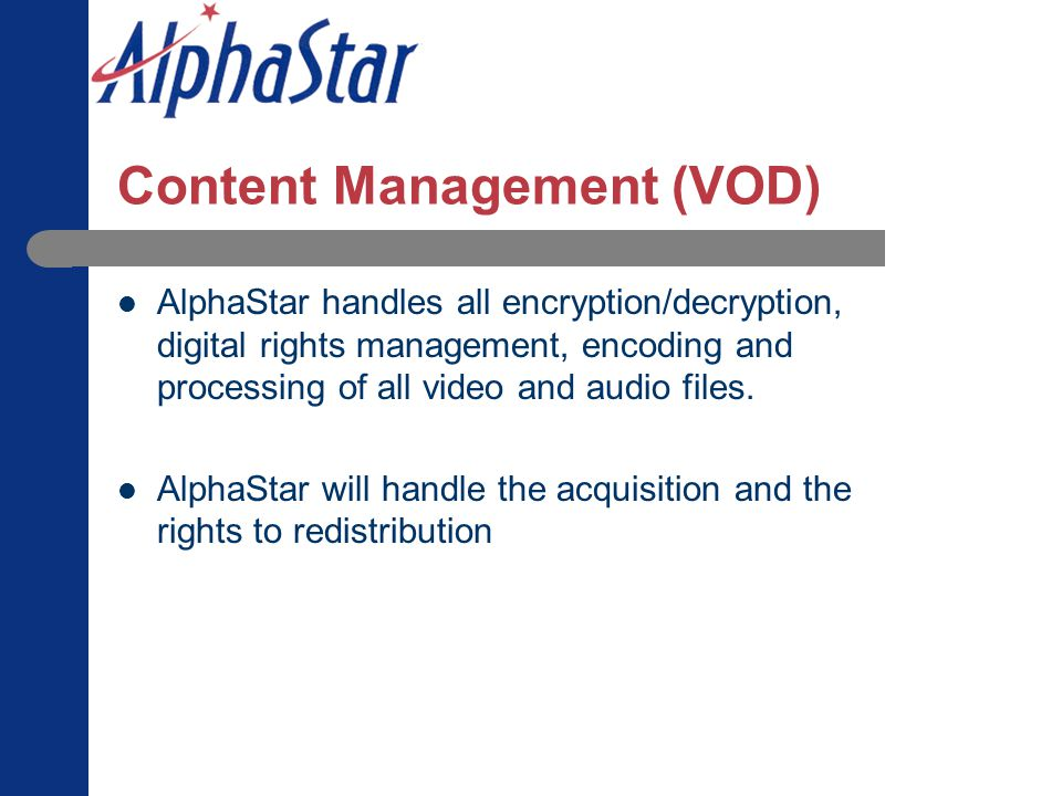 Content Management (VOD)