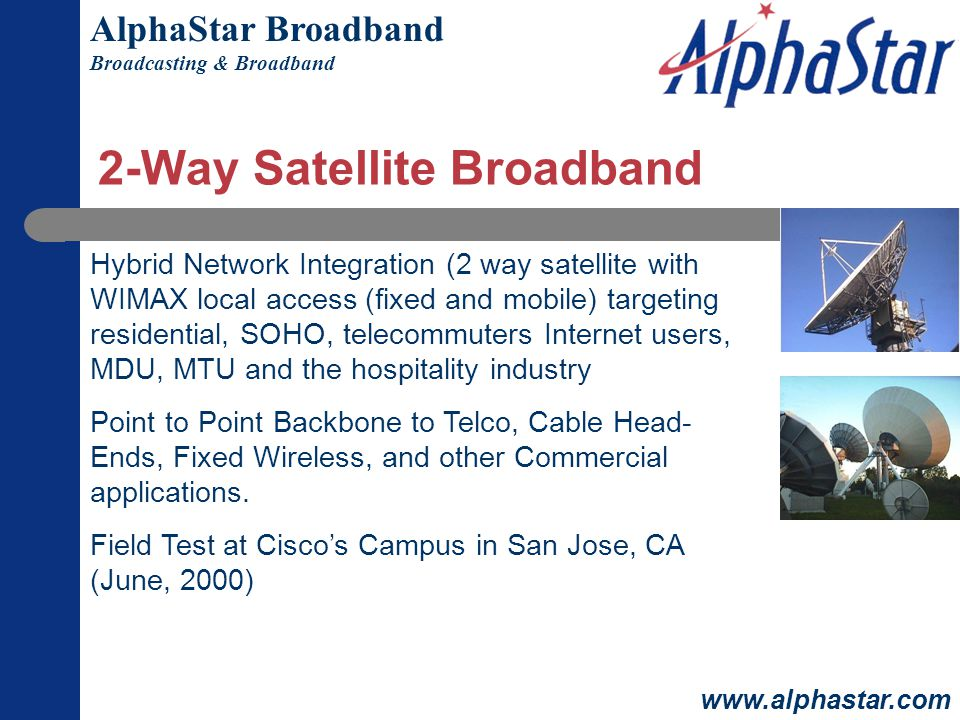 2-Way Satellite Broadband