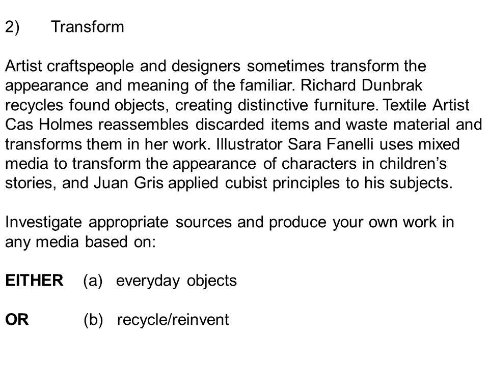 2) Transform