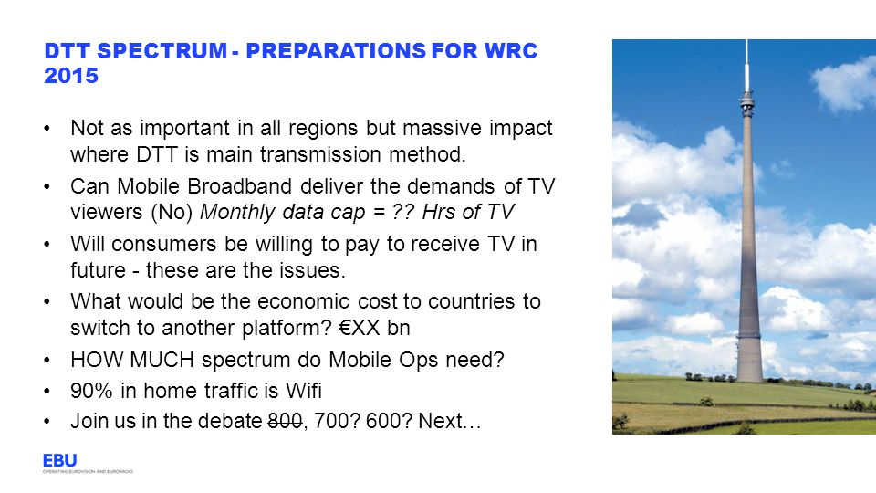 DTT Spectrum - preparations for WRC 2015