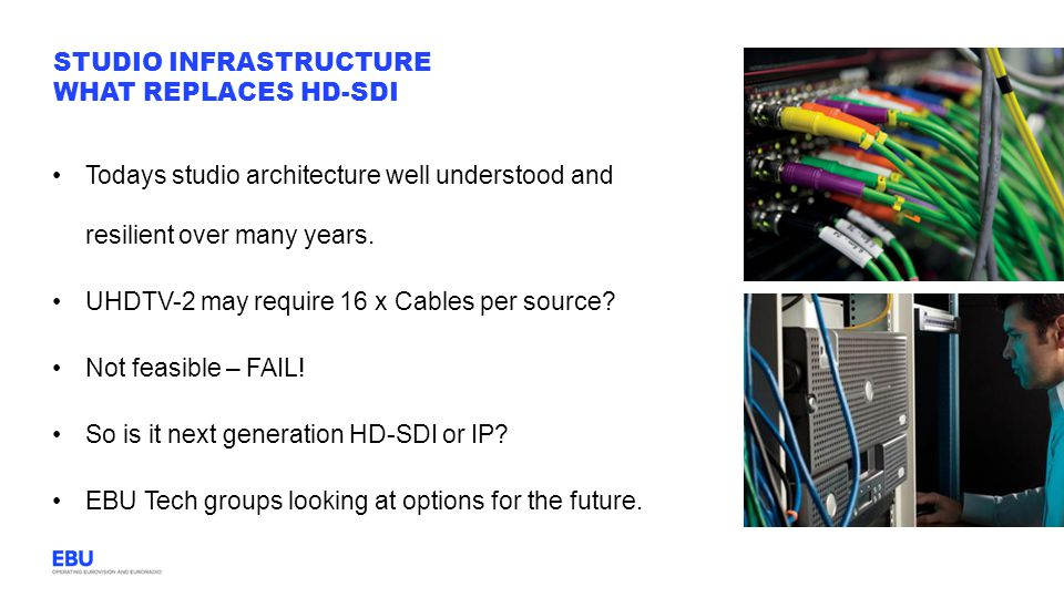 Studio Infrastructure What replaces HD-SDI
