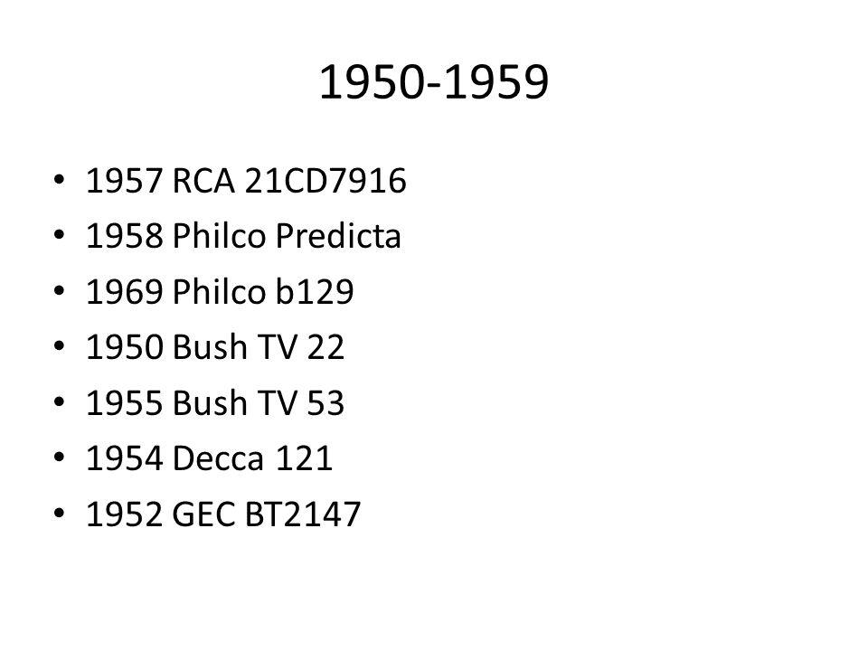1950-1959 1957 RCA 21CD7916 1958 Philco Predicta 1969 Philco b129