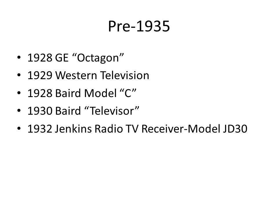Pre-1935 1928 GE Octagon 1929 Western Television