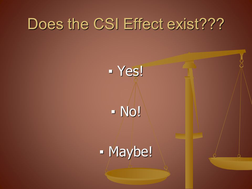 Does the CSI Effect exist