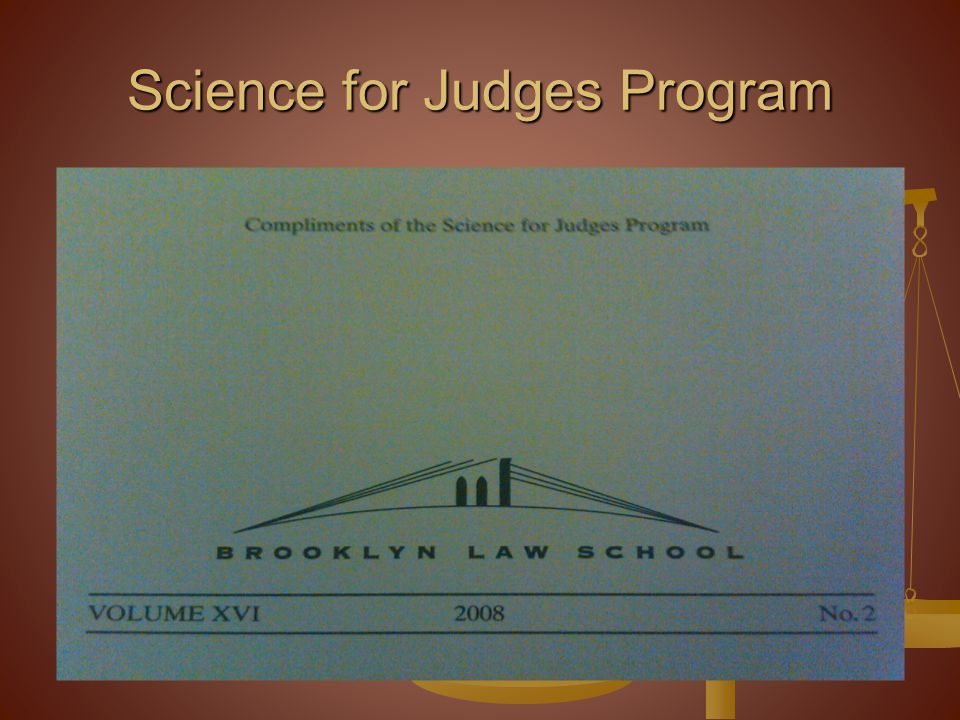 Science for Judges Program