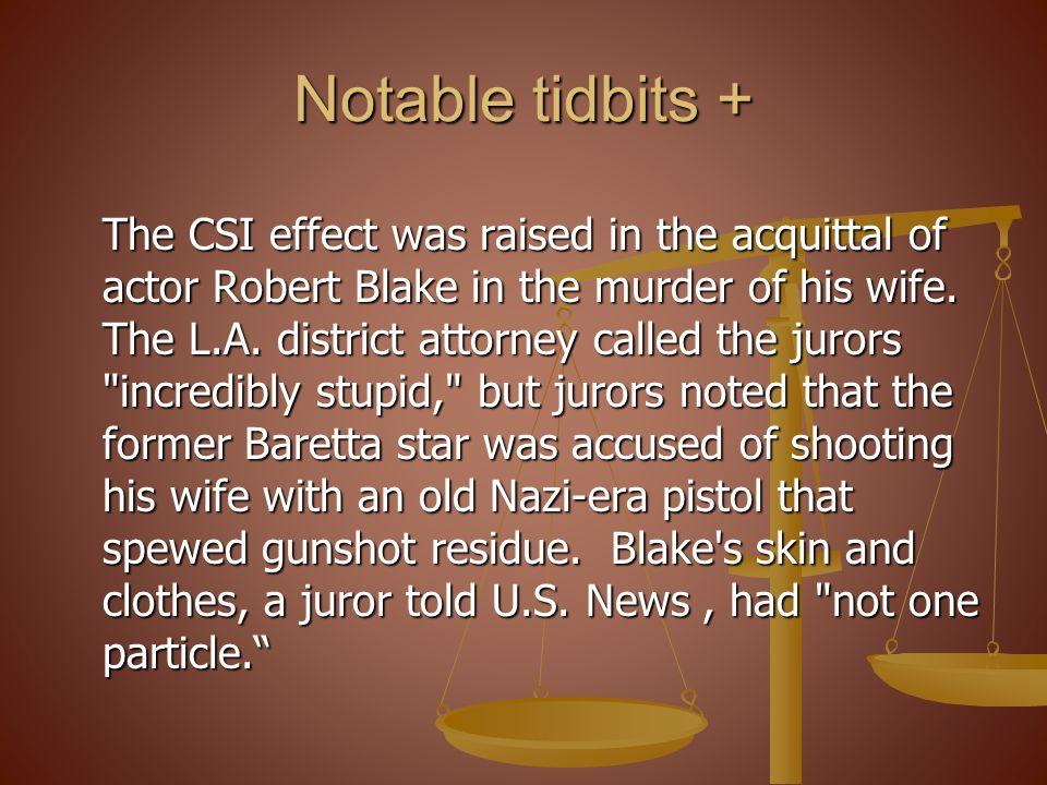 Notable tidbits +