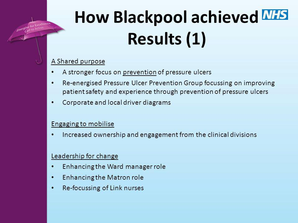 How Blackpool achieved Results (1)