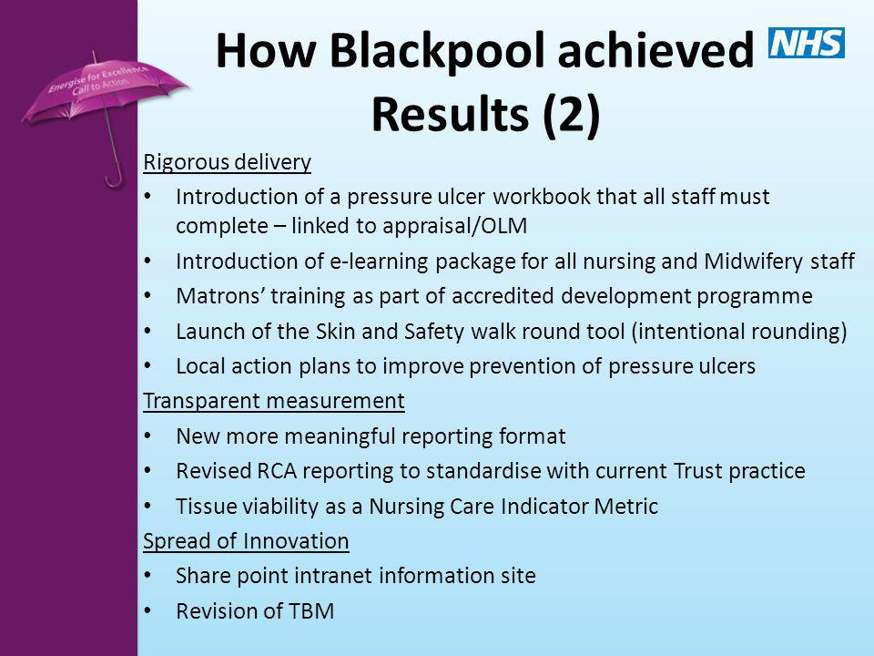 How Blackpool achieved Results (2)
