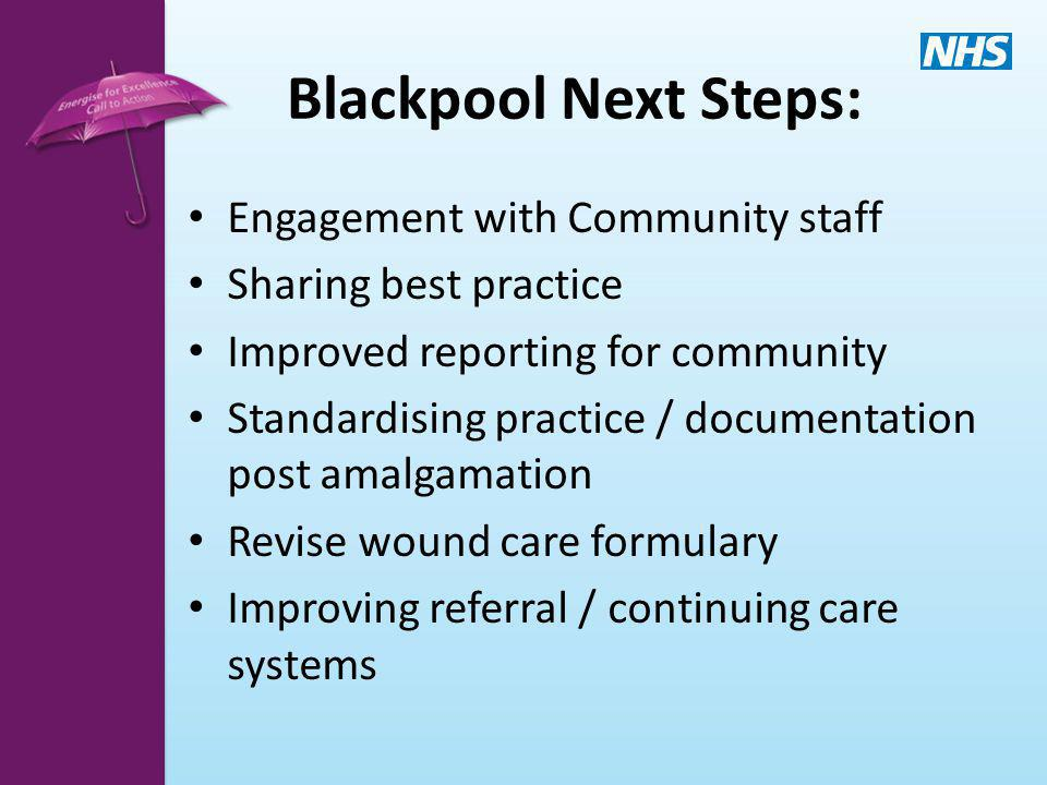 Blackpool Next Steps: Engagement with Community staff
