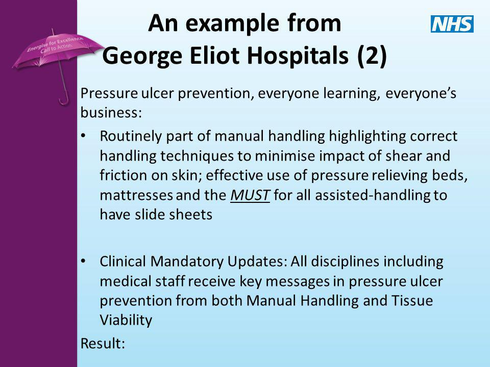 An example from George Eliot Hospitals (2)
