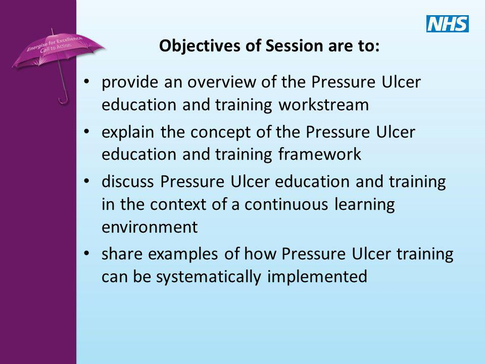 Objectives of Session are to: