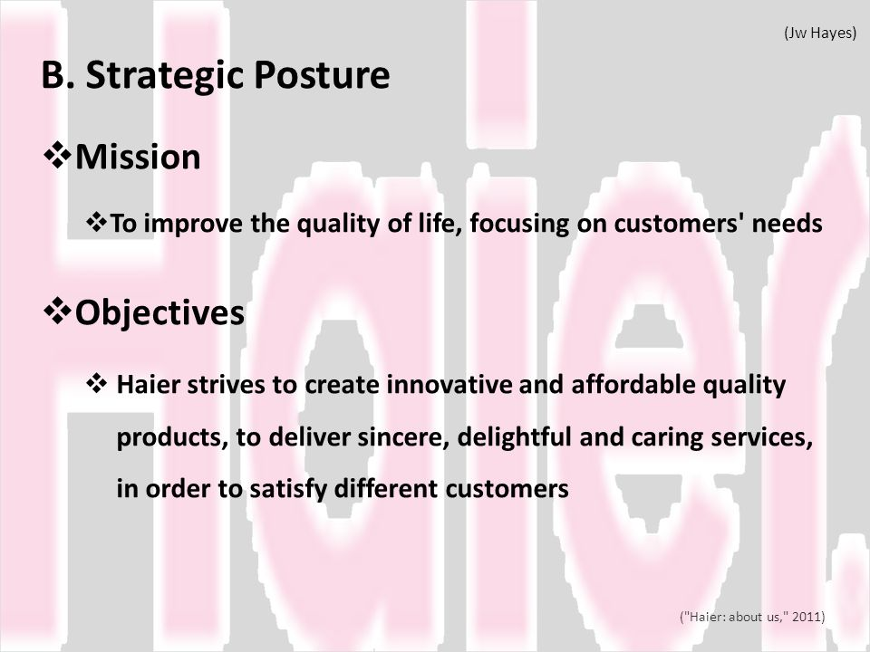 B. Strategic Posture Mission Objectives