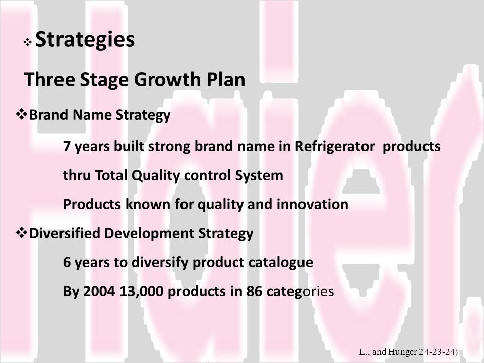 Three Stage Growth Plan