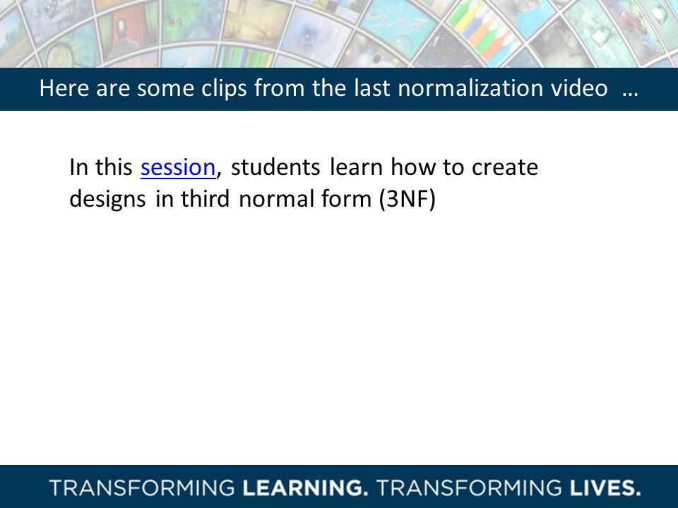 Here are some clips from the last normalization video …
