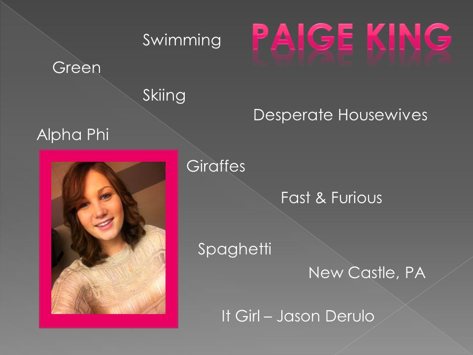 Paige King Swimming Green Skiing Desperate Housewives Alpha Phi