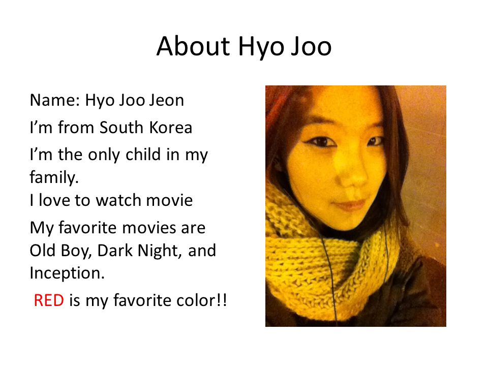 About Hyo Joo