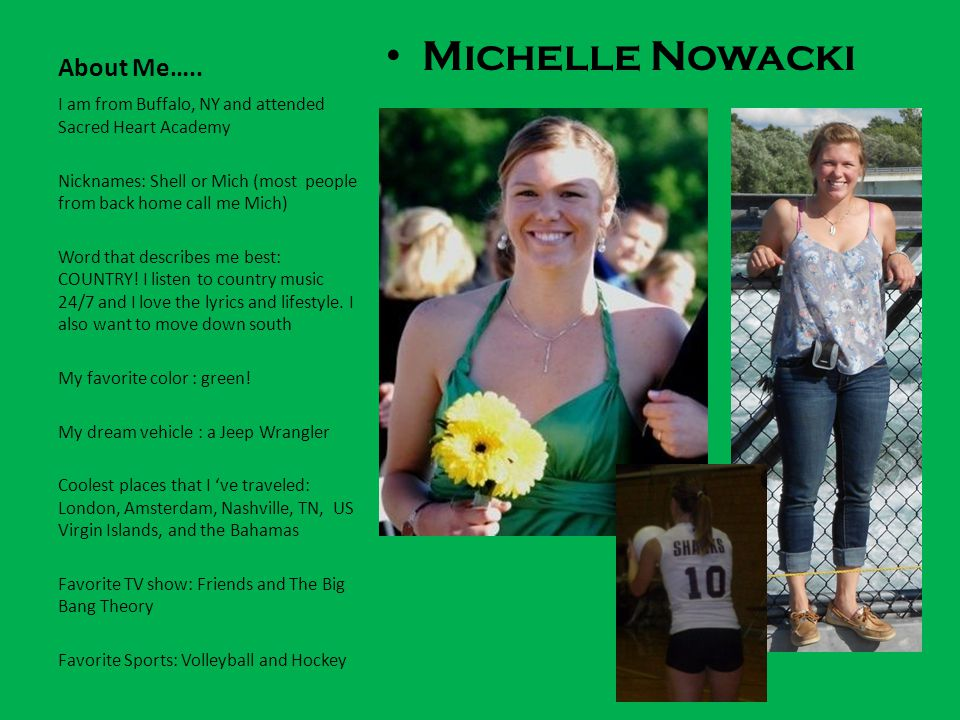 Michelle Nowacki About Me…..