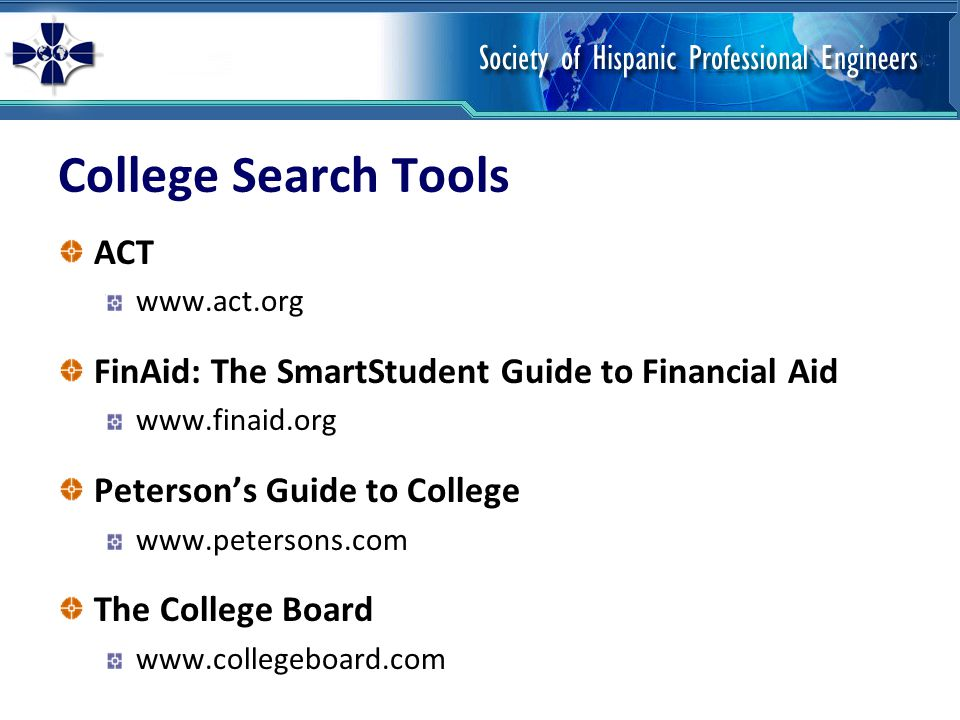 College Search Tools ACT