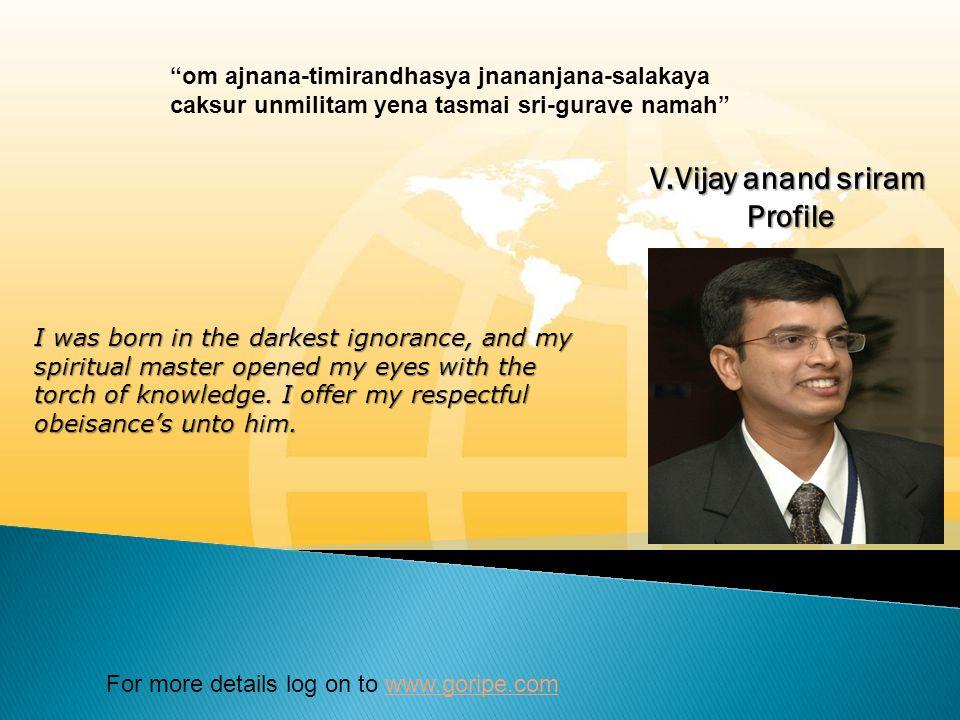 V.Vijay anand sriram Profile