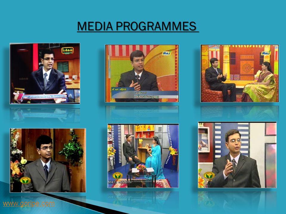 MEDIA PROGRAMMES www.goripe.com