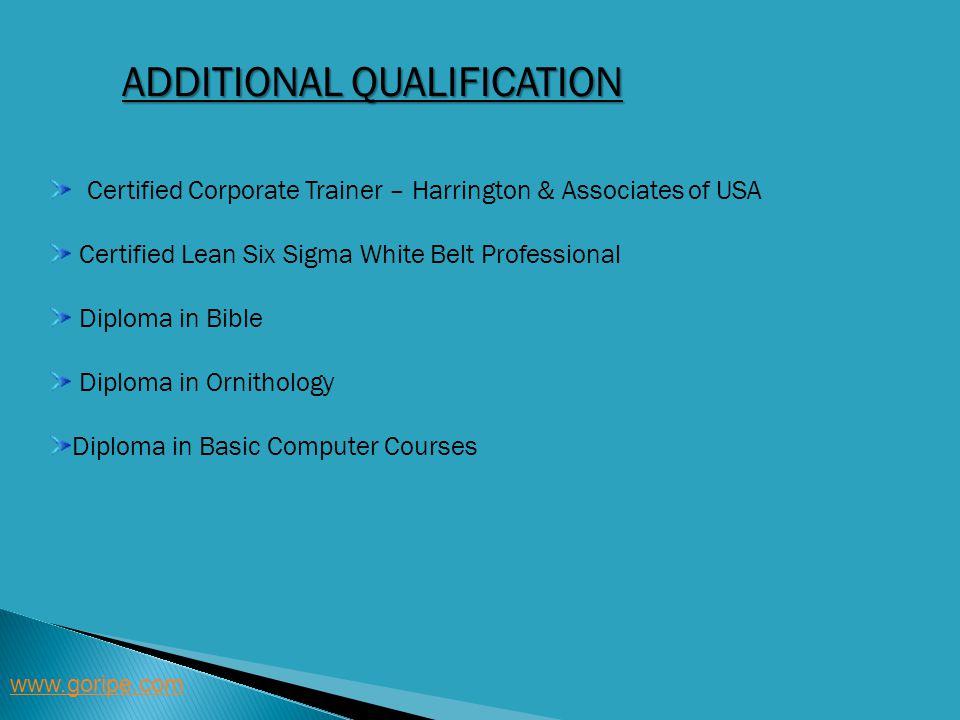 Additional qualification