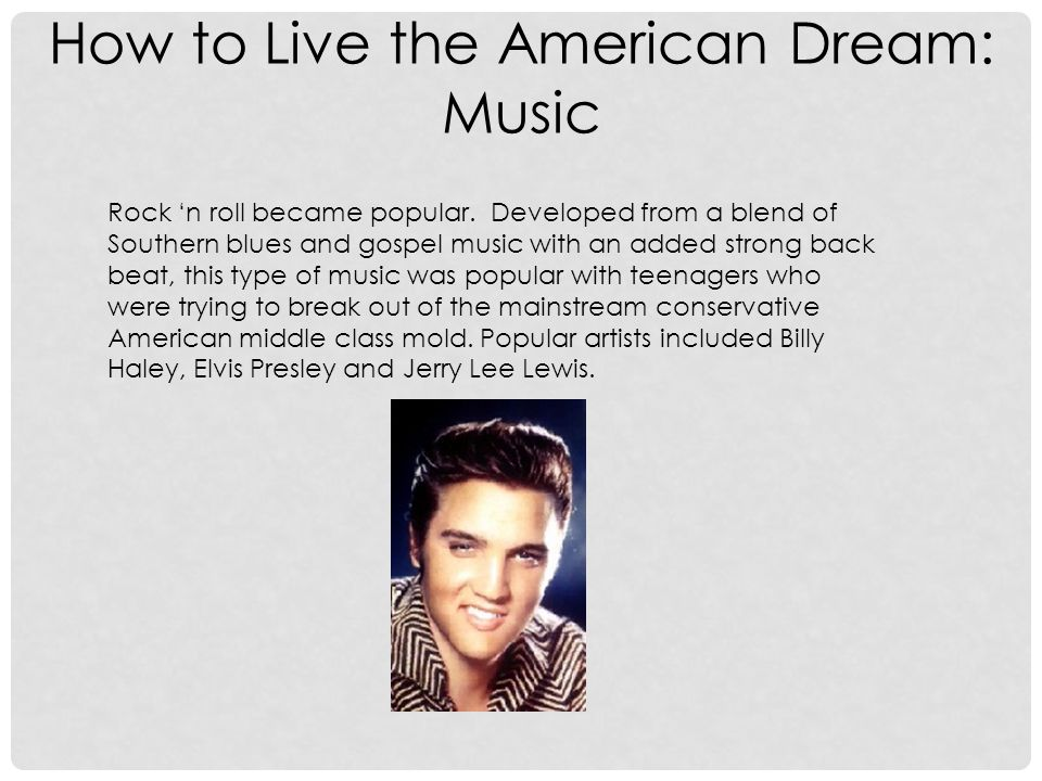 How to Live the American Dream: Music