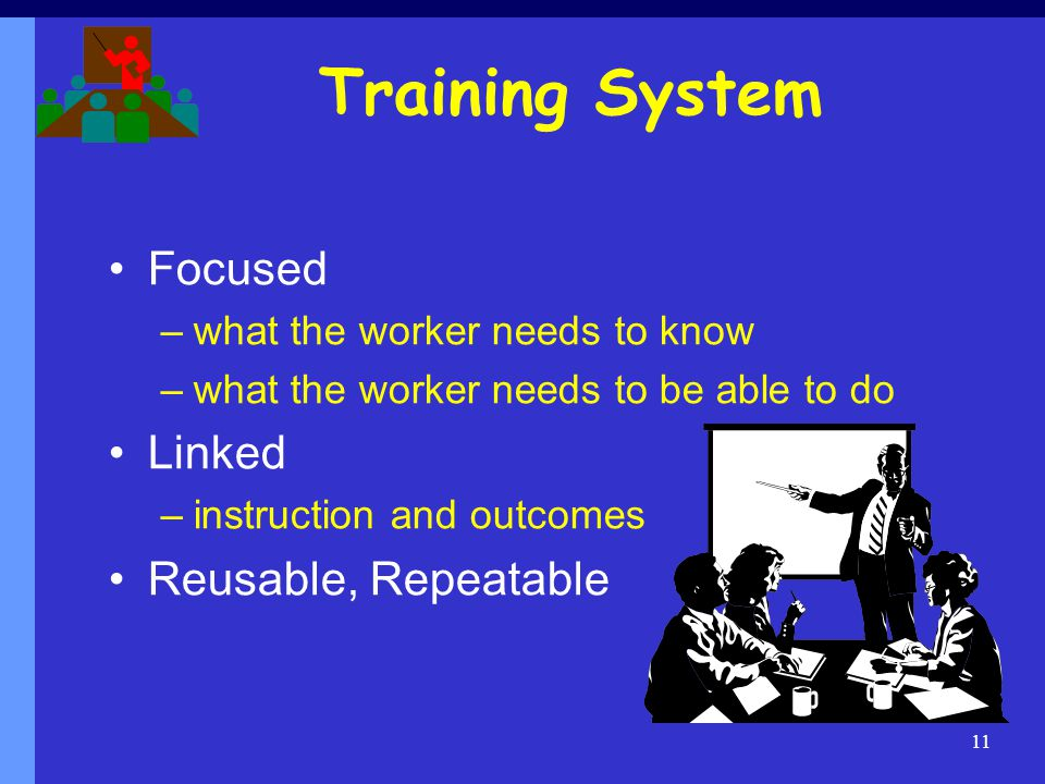 Training System Focused Linked Reusable, Repeatable