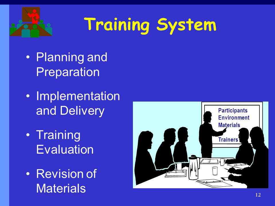 Training System Planning and Preparation Implementation and Delivery