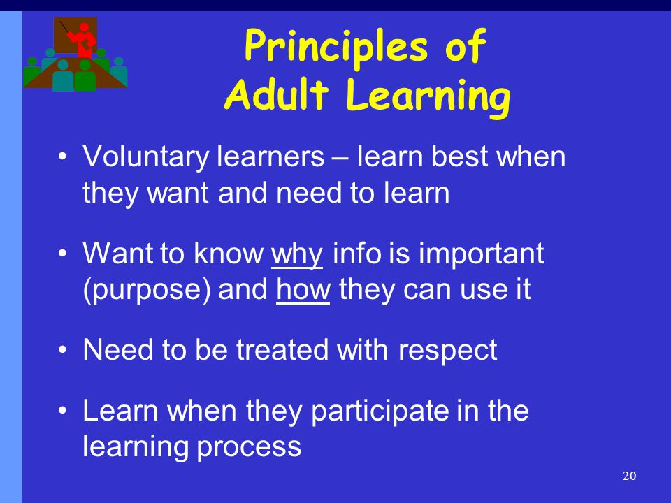 Principles of Adult Learning