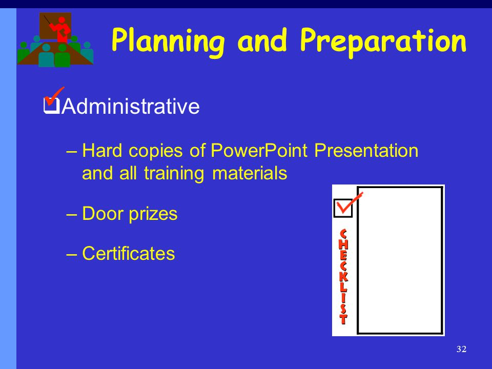 Planning and Preparation