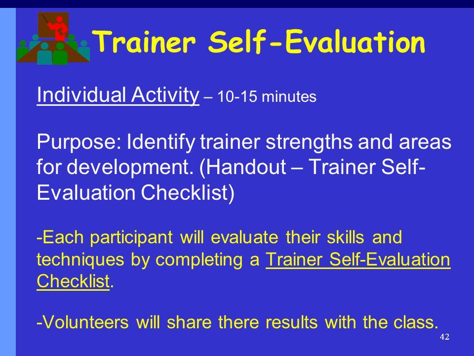 Trainer Self-Evaluation