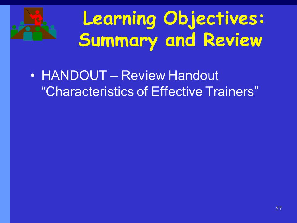 Learning Objectives: Summary and Review