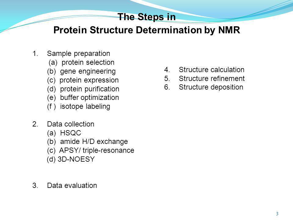 Protein Structure Determination by NMR