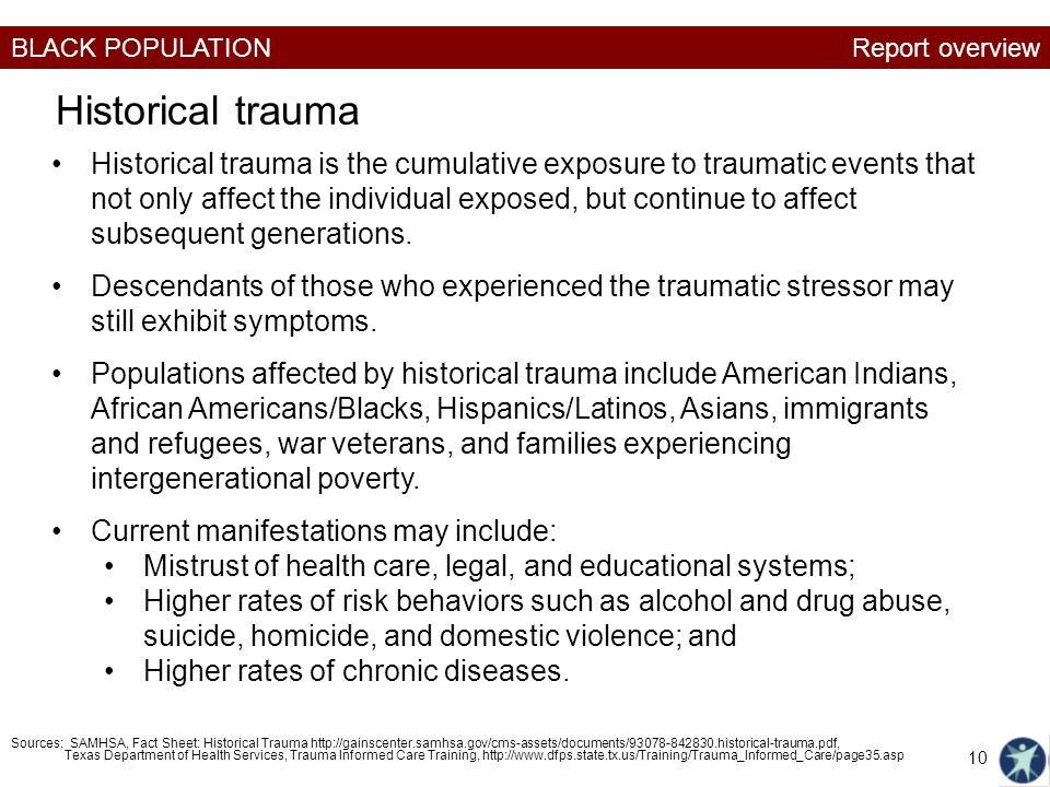 Report overview Historical trauma.