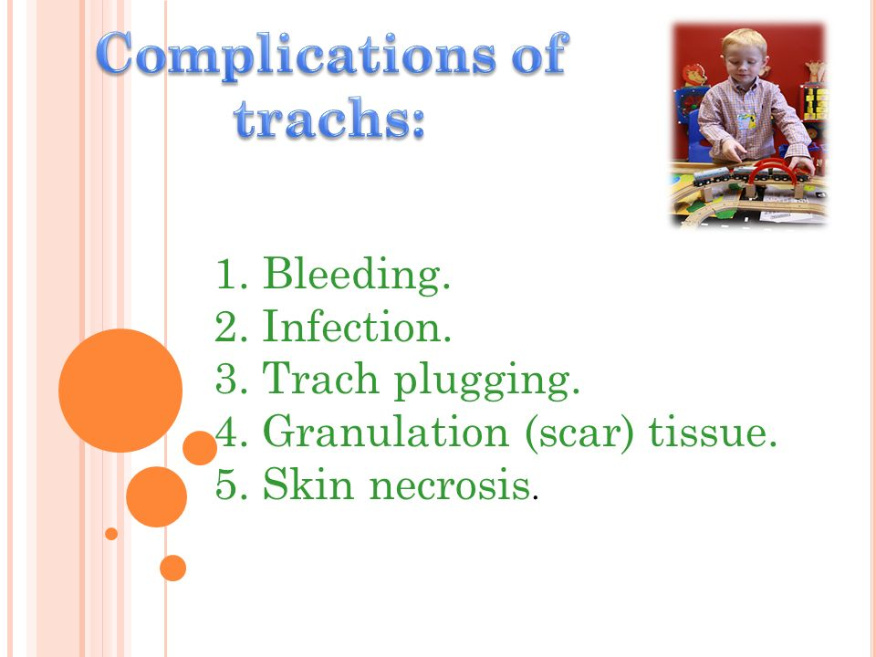 Complications of trachs: