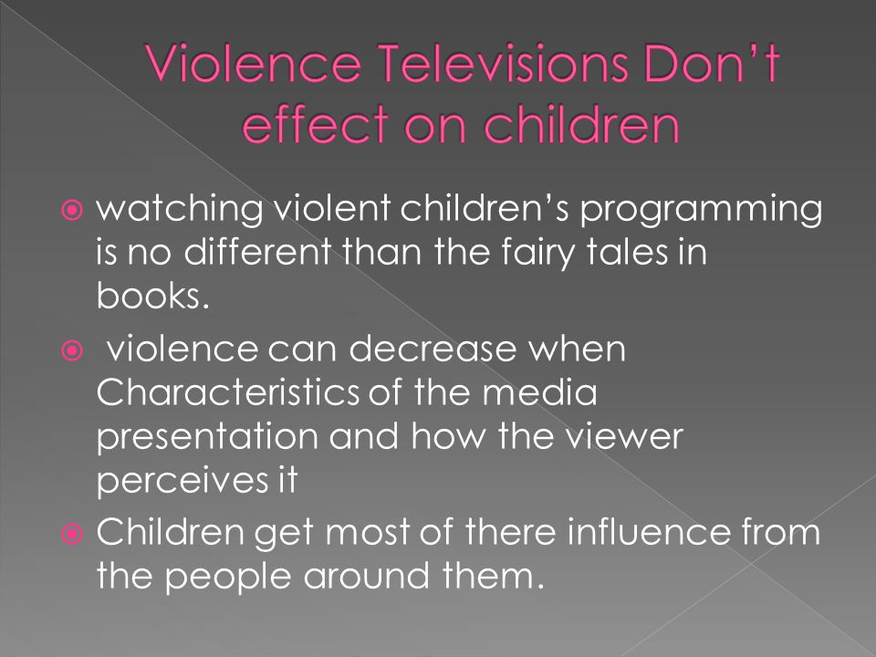 media effecting children This is a key limitation of current theory within media violence research  the influence of violent media on children and adolescents : a public-health.