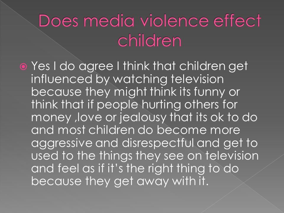 thesis statement about violence on television Having trouble coming up with a thesis statement hi everyone, i am writting a paper on censorship  (here right some examples of tv violence).