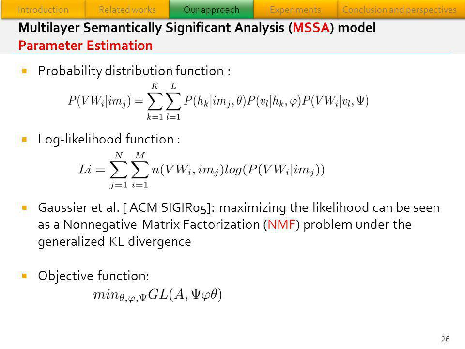 Probability distribution function :