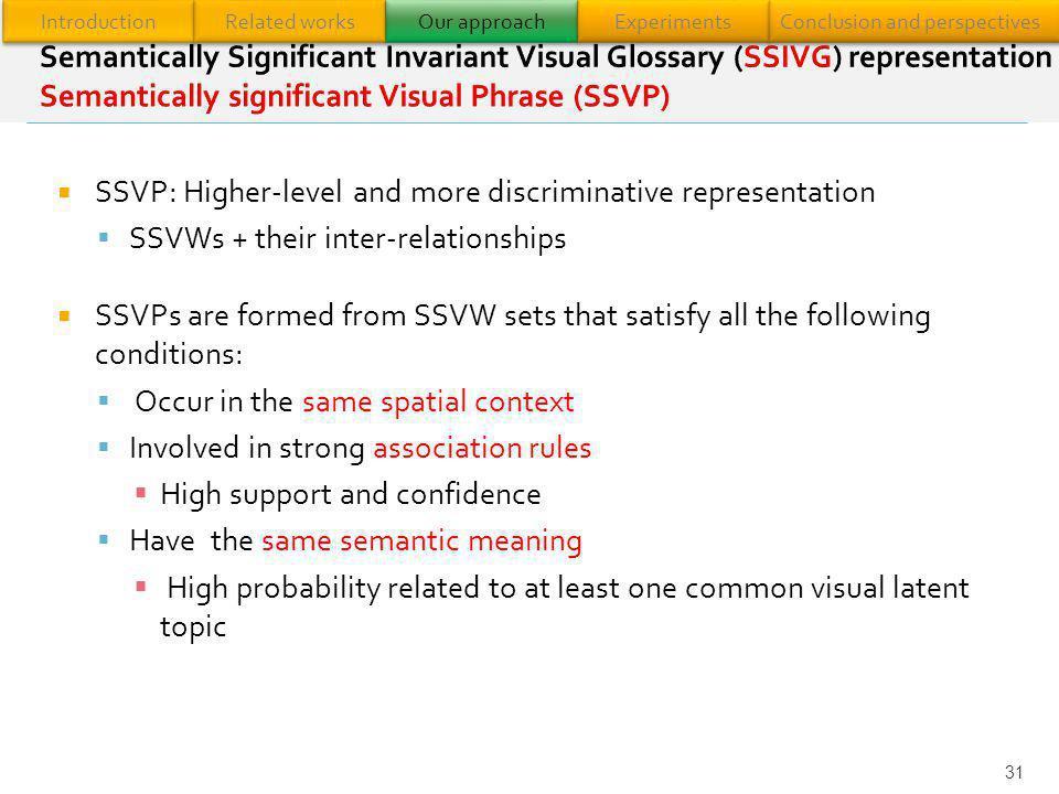 SSVP: Higher-level and more discriminative representation