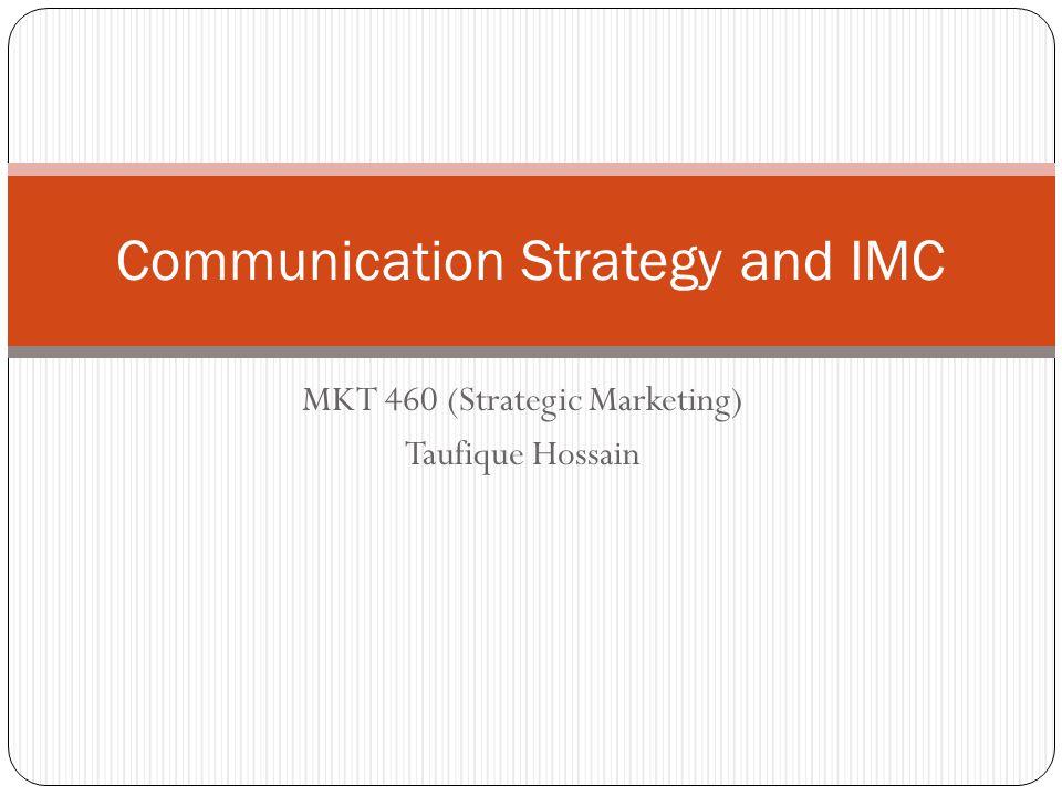 Communication Strategy and IMC