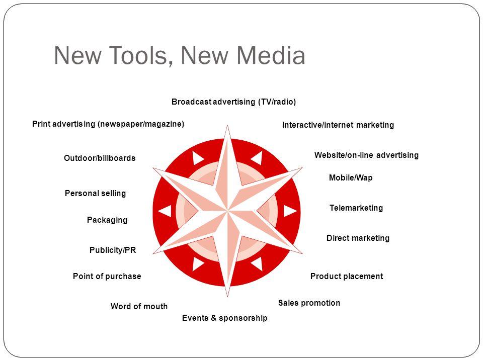 New Tools, New Media Broadcast advertising (TV/radio)