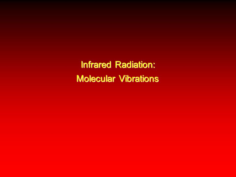 Infrared Radiation: Molecular Vibrations