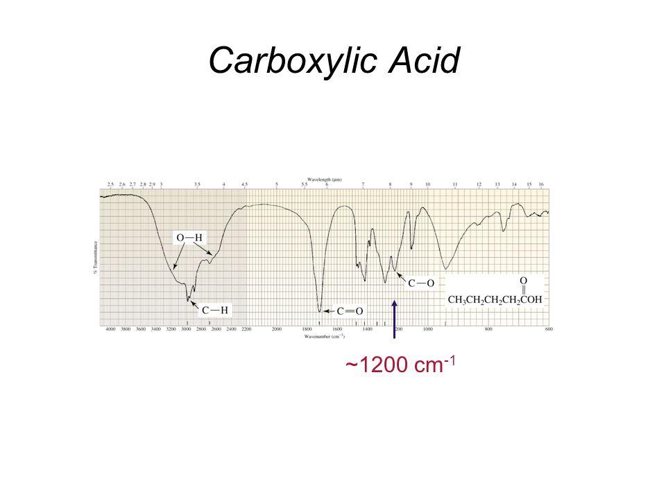 Carboxylic Acid ~1200 cm-1
