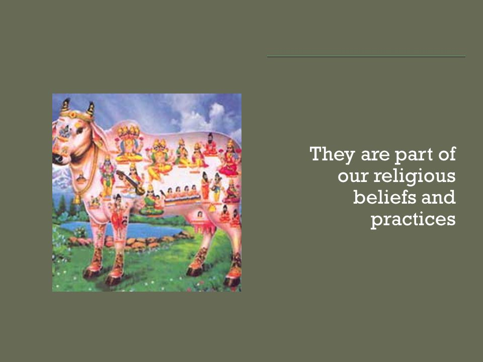 They are part of our religious beliefs and practices