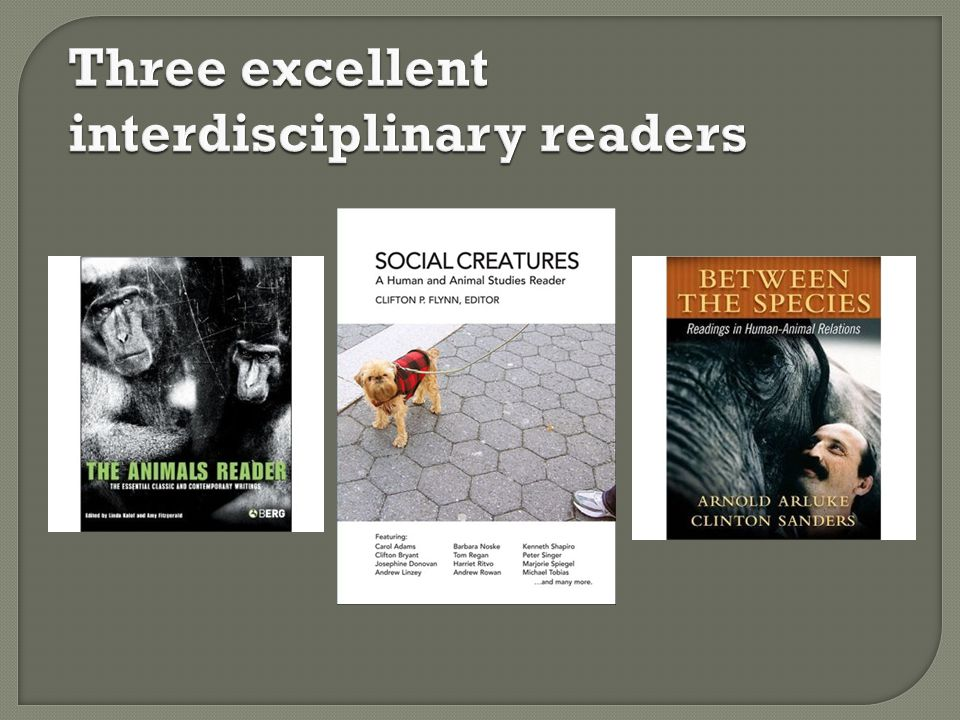 Three excellent interdisciplinary readers