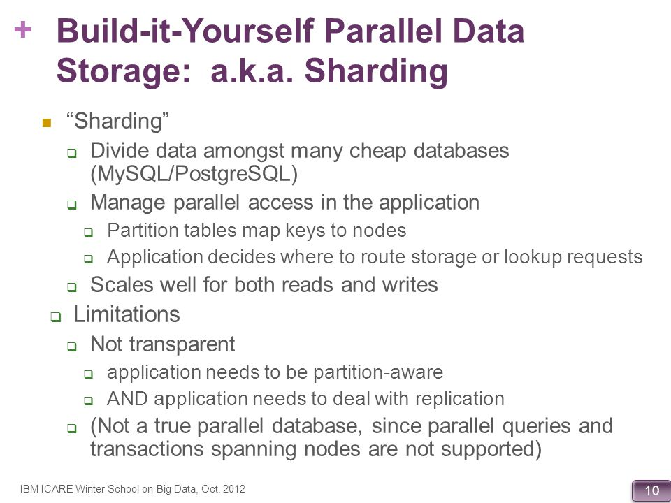Build-it-Yourself Parallel Data Storage: a.k.a. Sharding