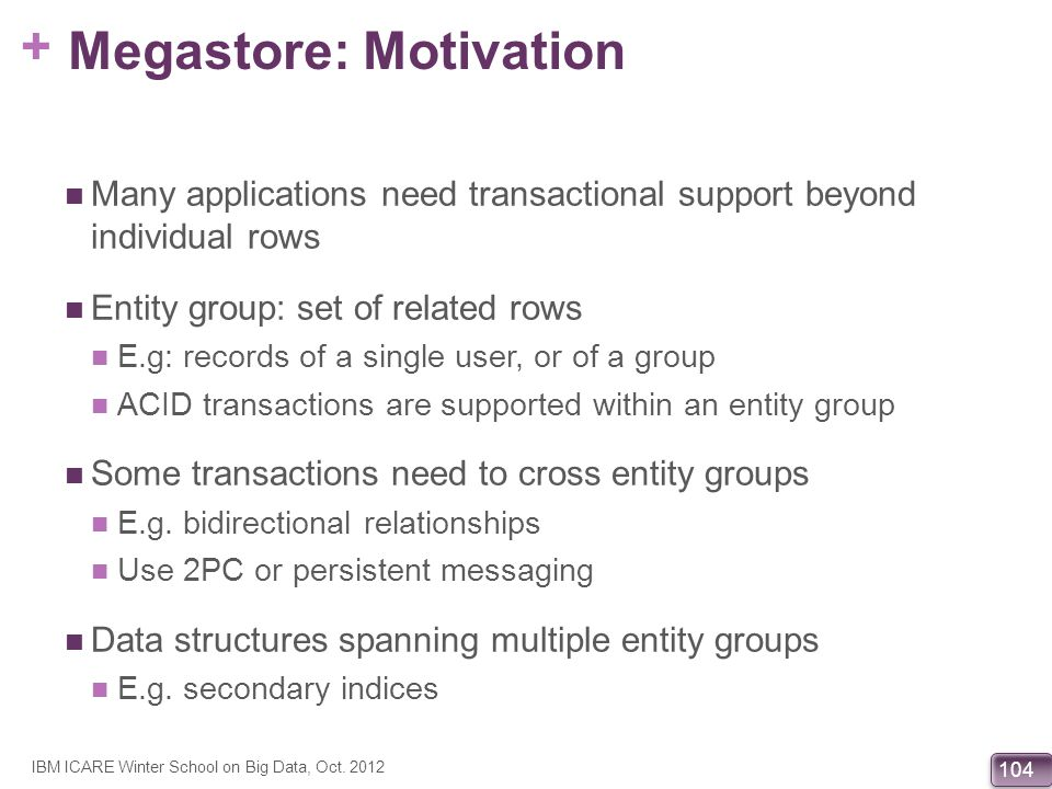 Megastore: Motivation