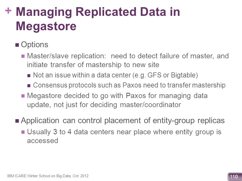 Managing Replicated Data in Megastore