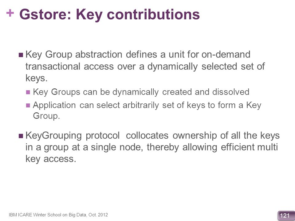 Gstore: Key contributions