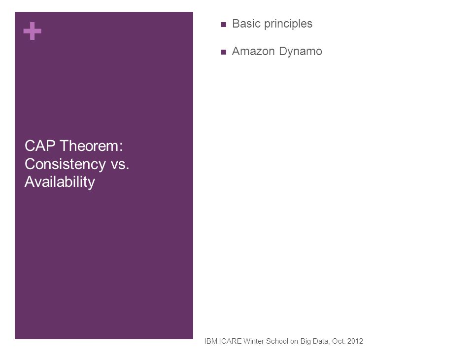 CAP Theorem: Consistency vs. Availability